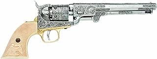 Denix Civil War M1851 Replica Engrave Silver Navy Pistol Non Firing Gun