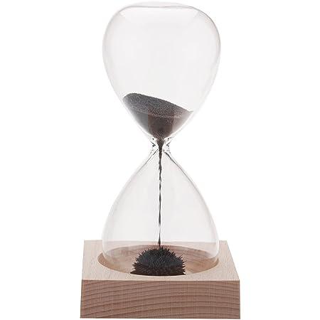 Anself 1pcs Magnete Hourglass Awaglass Mano-saltato Timer Desktop Decoration Magnetica Hourglass Nero