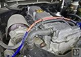Guaina protezione tubi vano motore Auto. Resistenza calore raggi UV olio benzina, Colore ROSSO, diametro disponibile da 1 mm a 25 mm, venduto al metro (ID 12 mm)