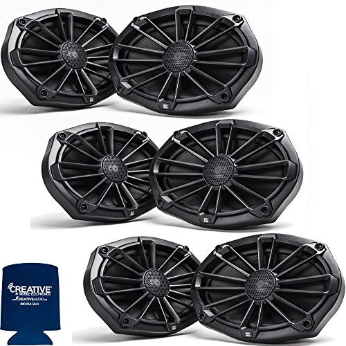MB Quart Bundle- 3 Pairs of NP1-169 6x9 Premium Marine Speakers (Black Frame with Black, Silver and White Grills Included)