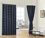 Warm Home Designs Raumteiler-Vorhänge, 274,3 x 254 cm, Königsblau, 100 % Verdunklungsvorhänge, Raumteiler, Raumteiler, isoliert, 2 Stück