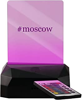 #Moscow - Hashtag LED USB Rechargeable Edge Lit Sign