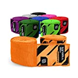 Sanabul Elastic Professional 180 inch Handwraps for Boxing Kickboxing Muay Thai MMA (Orange, 180 inch)