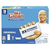 Mr. Clean Magic Eraser Original, Bathroom, Shower, and Oven Cleaner, Cleaning Pads with Durafoam, 9 Count