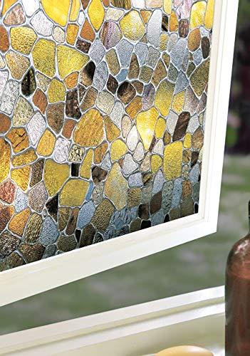 Pellicola per finestre Mosaico di vetrata Colorata 61 x 92 cm con Effetti di Luce