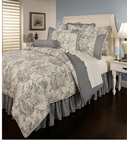 Find Bargain 6 Piece Victorian Landscape Pattern Comforter Set King Size, Featuring Reversible Check...