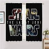 DILITECK Cortinas de salón de Star Wars The Last Jedi Star Wars para cortinas de ventana, cenefas de 163 x 163 cm, Star Wars The Last Jedi Star Wars