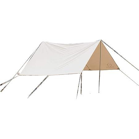 S'more(スモア) Tarppi タープテント タープ テント 収納バッグ付き ポリコットン キャンプ テント 4.0mx2.6m おしゃれ 撥水加工 UVカット UPF50+ アウトドア 日除け 日よけ バーベキュー 通気性 吸湿性 収納ケース 撥水 難燃 UPF50+ 抗菌