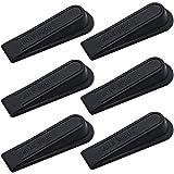 RtottiM - Fermaporta in gomma antiscivolo, 6 pezzi, colore: nero