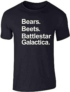Pop Threads Bears Beets Battlestar Galactica Funny Graphic Tee T-Shirt for Men