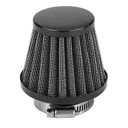 Keenso 38mm Universal Motorrad Luftfilter Set Vergaser(Schwarz)