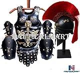 NAUTICAL MART Juego de cuirastas de Piel Medieval para Armazón Muscular – Disfraz de Halloween