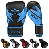 Elite Sports 2021 Muay Thai Gloves, Men's, Women's Best Kickboxing Pair of Breathable Gloves...