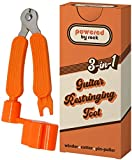 Guitar String Winder, String Cutter and Bridge Pin Puller - 3-in-1 Guitar Tool for Acoustic and Electric Guitars - Wind Guitar Strings Quickly - Cut Excess String Off - Pull Pins Out Easily