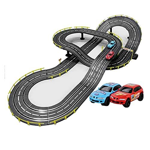 GAODD Pista Coches Regalo Racing Track 1: 43 Scale Modelo Rail Car Slot Remoto Control Remoto Track Splicing Track Boy Y Girl Navidad Regalos de Cumpleaños (Size : Electric Models+4 Cars)