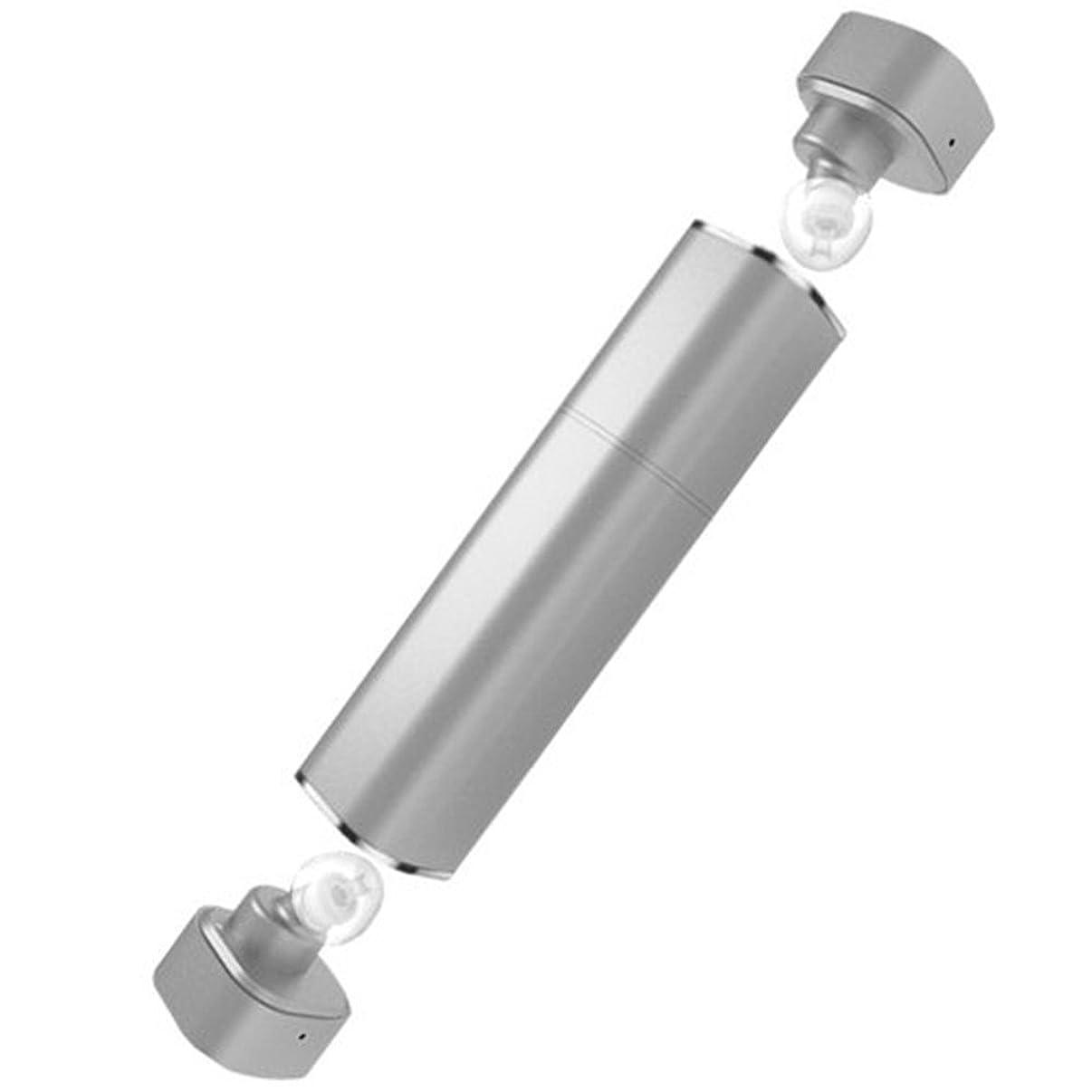 凍結誠実さ機動ミニtws双子1 k 2無線ブルートゥースステレオヘッドセットの口紅のiphone ipadのためにサムスンのスマートで耳のイヤホンのイヤーバッドの大きさ (銀色)