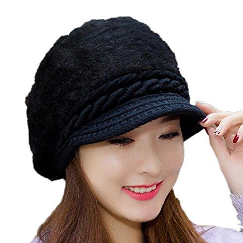 Leisial™ Caliente Gorro de Punto Crochet Boina de Mujeres Invierno Sombrero Femenino de Viaje Invierno Primavera