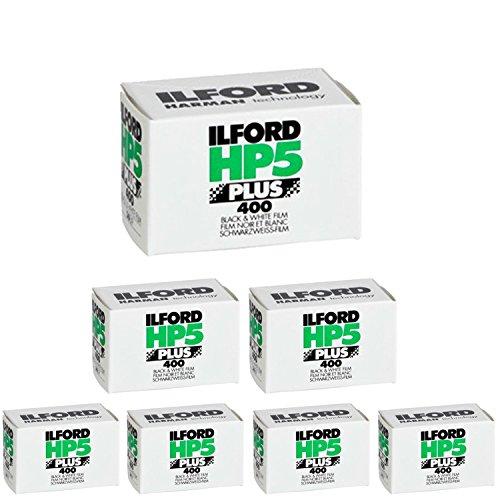 Pack de 71574577de Ilford HP5Plus–Película fotográfica en blanco, negro y, 35mm), ISO 400, 36exposiciones