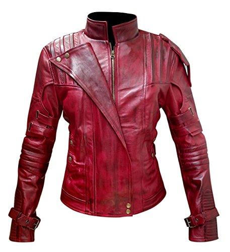 Guardianes de la galaxia Vol 2 Star Lord traje elegante casual desgaste chaqueta de cuero real