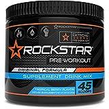 Rockstar Preworkout Drink Mix - Pre-Workout, Nitric Oxide Booster, Sugar Free, Endurance Vitality, 45 Scoops