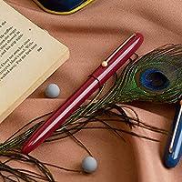 ペン、高級万年筆 - クラシックデザイン - ミディアムペン先 - 滑らかでエレガントなライティング - 取り外し可能プルアウトインク吸収剤 - 万年筆 (Color : Red)