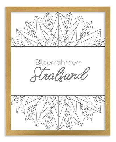 BIRAPA Holz Bilderrahmen Stralsund 70x100 cm in Natur mit Antireflex-Kunstglasscheibe