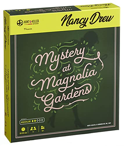 Hunt A Killer Nancy Drew - Mystery at Magnolia Gardens, Immersive Murder Mystery Game, Examine Evidence, Eliminate Suspects, Catch the Culprit, For Aspiring Detectives, Game Night, AMZ Exclusive