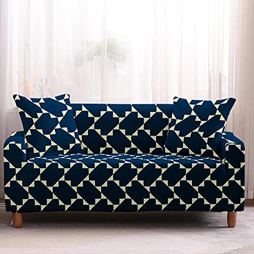 Funda para sofá lounge, funda protectora para muebles, funda para sofá antideslizante con protección para mascotas, funda para sofá con combinación de esquina en forma de L NO.7 4seat-XL- (235-300cm)