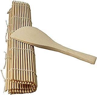 SeaStart D - Rodillo para Hacer Sushi (bambú Mate, Acabado Mate, Incluye arroz)