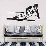 yaonuli Ski wandtattoo ski Aufkleber entfernbare Vinyl Aufkleber raumdekoration Wohnzimmer Dekoration Jugend Schlafzimmer Glas Kunst wandbild 79X42 cm