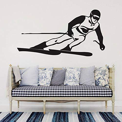ganlanshu Snowboard wandtattoos entfernbare vinylaufkleber Schlafzimmer Dekoration Wohnzimmer Dekoration jugendlich Schlafzimmer wandbild 142cmx75cm