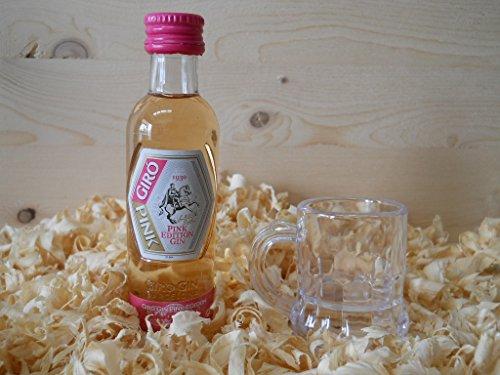 Botellin miniatura Ginebra Giro Pink con vasito chupito - Pack de 6 unidades