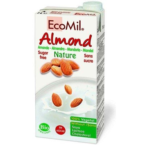 Ecomil Mandelmilch Natur, ungesüßt, bio, 4er Pack (4x 1 Liter)