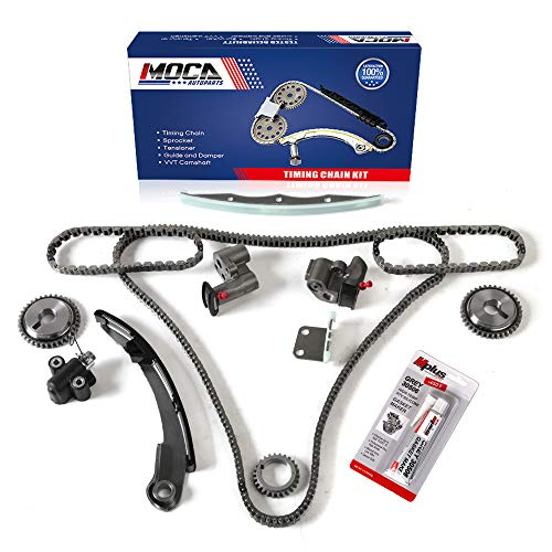 MOCA Engine Timing Chain Set For 2004-2008 for NISSAN Maxima & 04-09 for NISSAN Quest & 04-06 for NISSAN Altima 3.5L V6 DOHC 24 Valve VQ35DE Code