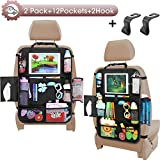 Car Seat Organizer-Backseat Car Organizer with Touchable Tablet Holder+12 Storage Pockets | 2 Bonus Hooks |...