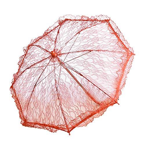Freedomanoth kant paraplu handgemaakt bruid parasol bloemenmeisjes roestvrij staal lange greep paraplu voor bruiloft decoratie fotografie prop