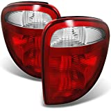 For 2001-2003 Dodge Caravan | Voyager | Chrysler Town & Country Red Clear Tail Lights Replacement Pair