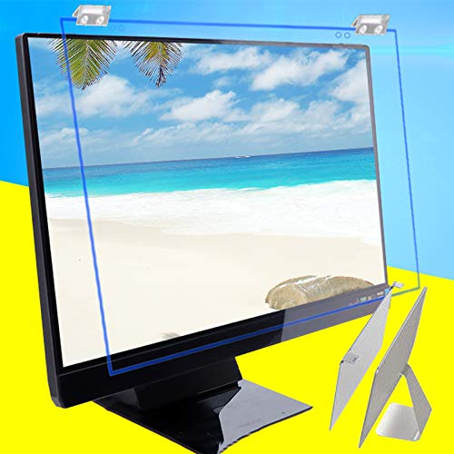 Hanging Blue Light Blocking Filter - 2 Pieces Computer Monitor Protective Film, Easy To Install, No Bubbles, Anti Glare, Protect Eyes, For 19, 24 Inch 16:10 Widescreen, Anti Scratch Screen Protector