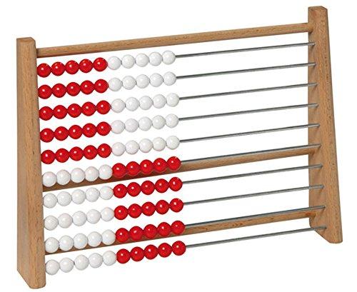 Betzold Holz-Rechenschieber Grundschule 100 - Kinder Abakus Rechenrahmen Mathematik Rechnen Lernen