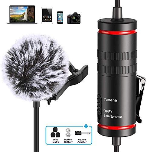 Professionelles Lavalier-Mikrofon zum Anstecken für Smartphone, iPhone und Canon / Nikon Kamera, 3,5 mm Mini-Mikrofon