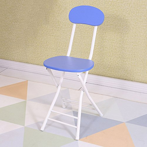 Hocker YANFEI Klappstuhl Hochstuhl Frühstück Küche Stuhl (Farbe : Blau)
