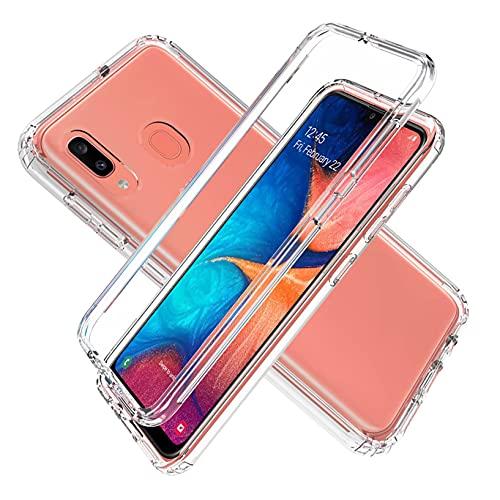 Funda para Samsung Galaxy A30s - Carcasa Completa Anti-Shock [360°] Full Body Protección [Silicona TPU Frente] y [Duro PC Back] para Samsung Galaxy A30s / A50 / A50s - Cover Doble [Transparente]