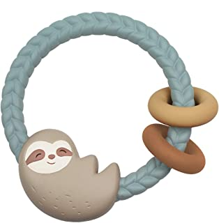 Itzy Ritzy Silicone Teether with Rattle, Sloth