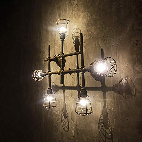 Applique Romanzo Applique Applique Applique Luce Staffa Applique Retro Loft Lampada Da Parete Industriale Wind Pipe Applique Creativo Hotel Bar...