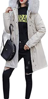 Macondoo Womens Hooded Zipper Quilted Parkas Coat Winter Jacket Outwear Down Coat
