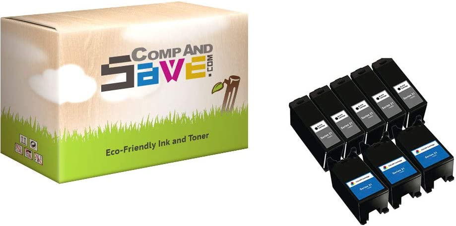 CompAndSave Replacement for Dell Series 21 Y498D Black /& Y499D Color 2-Pack Ink Cartridges