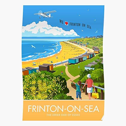Frinton Holiday Coast Seaside Travel Retro Sea Beach Summer On Home Decor...