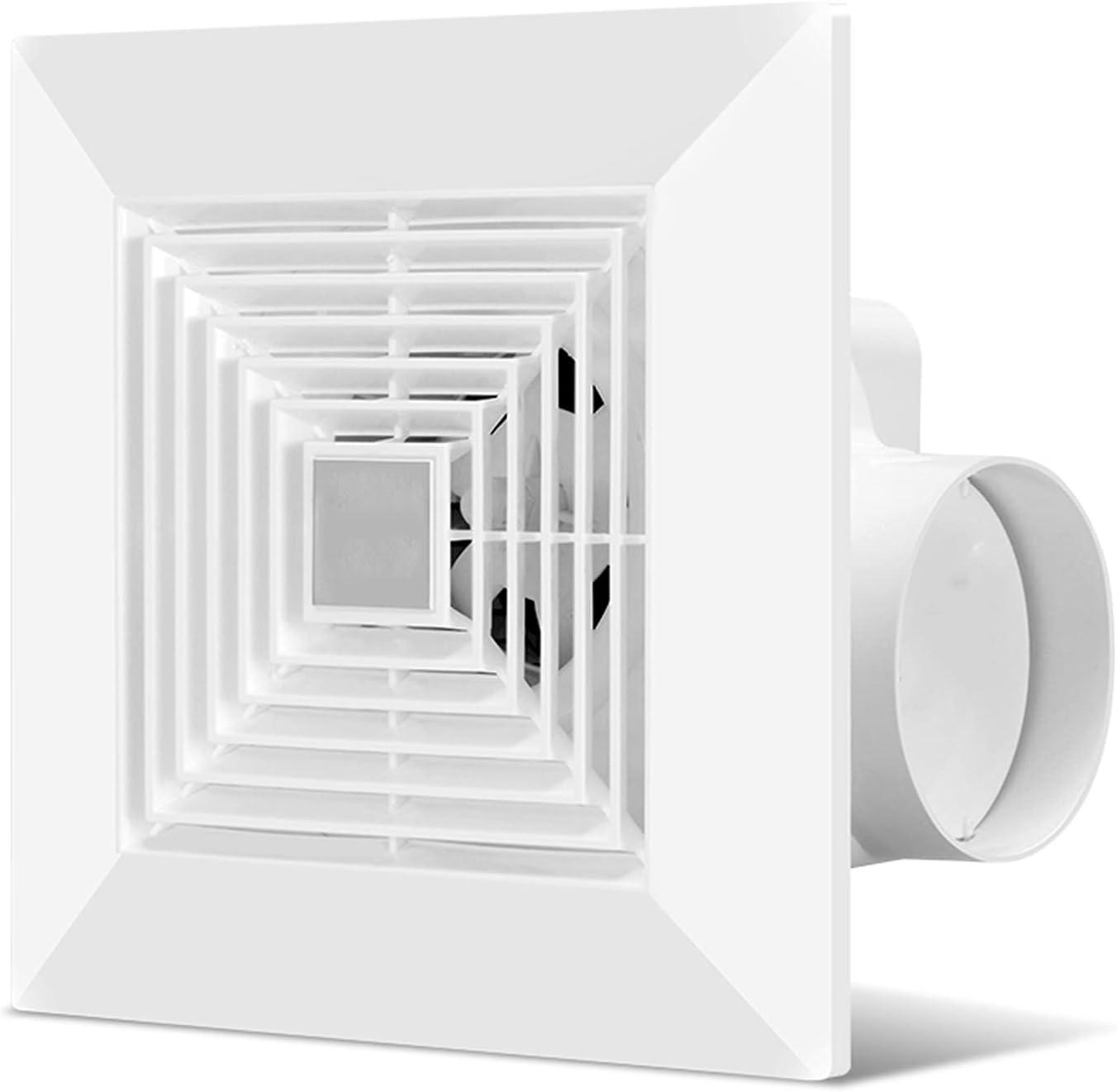 Ventilador extractor Ventilador de ventilación del baño Ventilador de escape de la cocina de 10 pulgadas, ventilador de escape potente con válvula de retención y panel de cuadrícula, 4 0W, 118CFM Ext