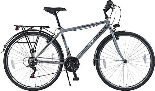 T 28 Zoll Jungen Herren City Jugend CITYBIKE Fahrrad Herrenfahrrad KINDERFAHRRAD CITYFAHRRAD Rad Bike 21 Gang Voltage Man GRAU TYT19-052