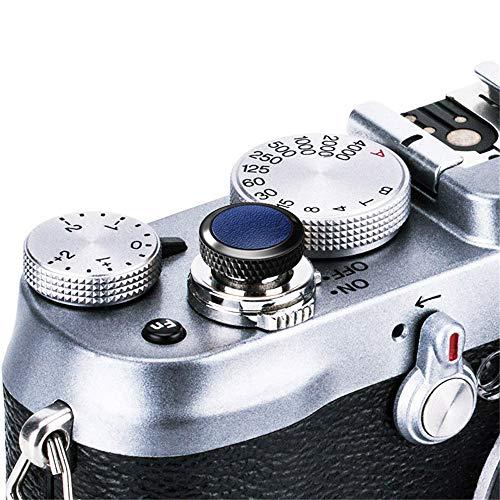 JJC Soft Camera Shutter Release Button Cap for Fuji Fujifilm X-T4 X-T3 X-T2 XT30 XT20 XT10 X-Pro3 X-Pro2 X-Pro1 X100V X100F X100T X100S X-E3 X-E2S for Sony RX10 IV III II RX1RII RX1R RX1 / Black+Blue